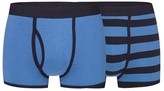 J By Jasper Conran Pack Of Two Navy And Blue Striped Print Keyhole Trunks