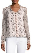 Nanette Lepore Boticelli Long-Sleeve Floral Voile Blouse, Pink
