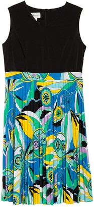 Donna Morgan Sleeveless Printed Dress (Plus Size)