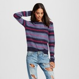 K by Kersh Women's Striped Crew neck Sweater