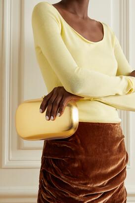 JEFFREY LEVINSON Elina Plus Brushed 18-karat Gold Clutch - One size