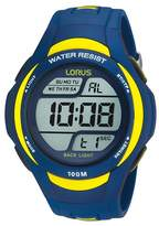 Lorus Blue And Yellow Digital Watch R2339ex9