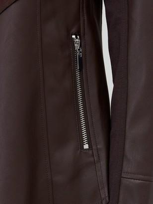 Very Waterfall PU Jacket - Dark Chocolate