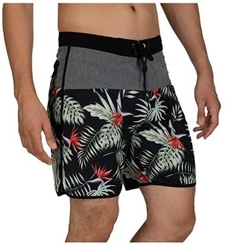 Hurley 18 Phantom Exotic Boardshorts (Black) Men's Swimwear