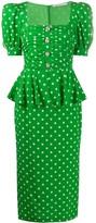 Alessandra Rich polka dot midi dress