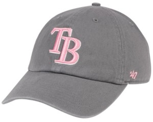 '47 Tampa Bay Rays Dark Gray Pink Clean Up Cap