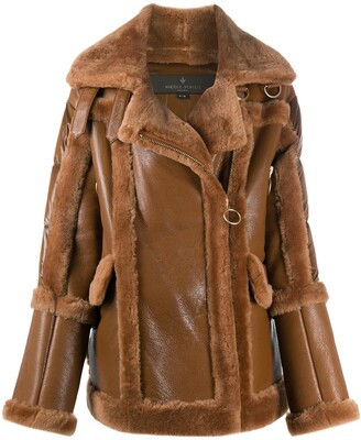 Nicole Benisti Shearling Zipped Coat