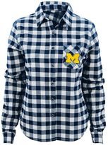 Juniors' Michigan Wolverines Buffalo Plaid Flannel Shirt