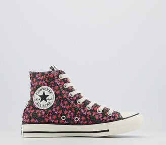 Converse All Star Hi Trainers Pink Green Multi Floral