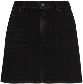 Saint Laurent Mini Denim Skirt