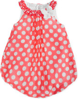 First Impressions Dot-Print Chiffon Bubble Romper, Baby Girls (0-24 months), Created for Macy's