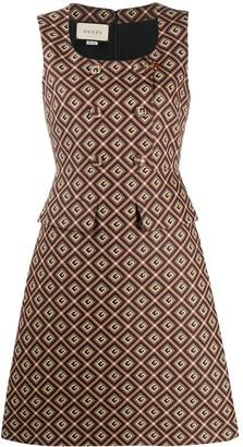 Gucci square G jacquard dress
