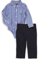 Andy & Evan Infant Boy's Gingham Bodysuit & Pants Set