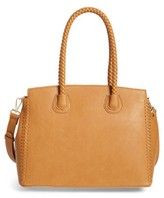 Sole Society Lexington Whipstitch Faux Leather Satchel - Brown