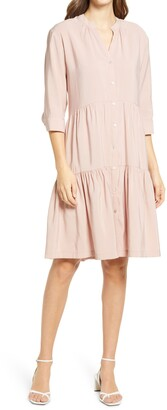 Halogen Tiered Button Front Dress