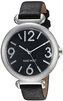 Nine West Women's NW/1775BKBK Black Strap Watch