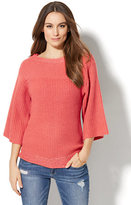 New York & Co. Sequin Ribbed-Knit Sweater