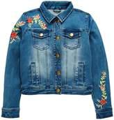 Very Girls Floral Embroidered Denim Jacket