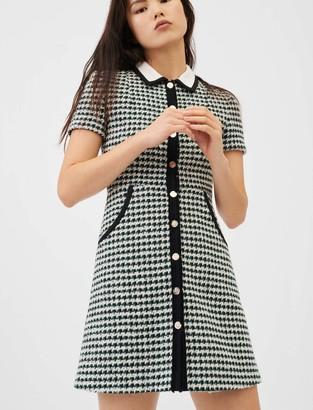 Maje Contrast tweed dress