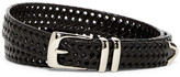 Original Penguin Bonded Leather Woven Belt
