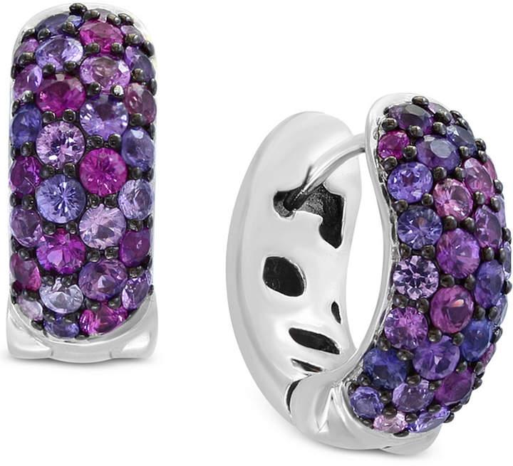 Effy Splash by Purple Sapphire Hoop Earrings (2-1/4 ct. t.w.) in Sterling Silver