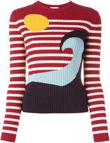 RED Valentino striped jumper - women - Polyamide/Viscose - L