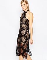 Finders Keepers Heirloom Dress in Black Palm