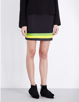 J.W.Anderson Striped A-line neoprene mini skirt