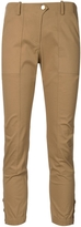 Veronica Beard Cropped Cargo Pants - Khaki