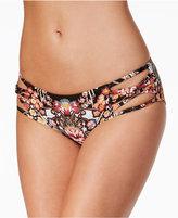 Becca Havana Floral-Print Strappy Hipster Bikini Bottoms
