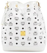 MCM 'Small Heritage' Coated Canvas Bucket Bag - White