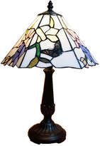 Traditional Butterfly Floral Tiffany Bedside Lamp