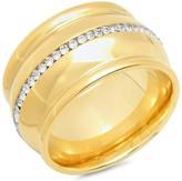 Channel Set Simulated Diamond Inlay Band Ring