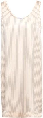 Eres Fragola Hammered Striped Silk-satin Nightdress