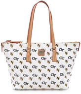 Dooney & Bourke Georgia Tech Zip Top Leather Shopper