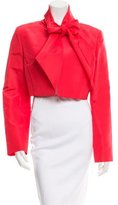 Oscar de la Renta Cropped Silk Jacket w/ Tags