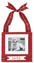Mud Pie Top Dog Frame Ornament