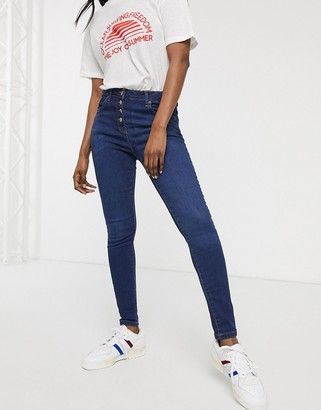 Parisian button up skinny jeans