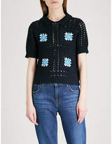 Claudie Pierlot Messidor crochet-knit cotton top