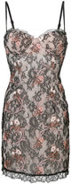 La Perla floral embroidered lace dress