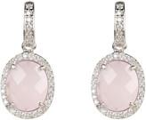 Latelita Beatrice Earrings Silver Rose Quartz