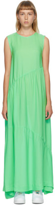Collina Strada SSENSE Exclusive Green Silk Ritual Dress
