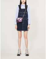 BAPE Square-neck denim dungaree dress