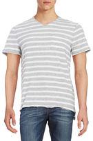 Calvin Klein Jeans Striped V-Neck Short-Sleeve Tee