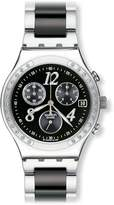 Swatch Men's YCS485G Quartz Chronograph Stainless Steel Dial Watch