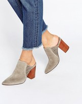 Hudson London Audny Taupe Suede Heeled Mules