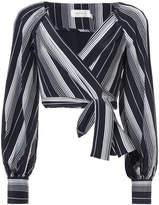 Zimmermann striped wrap blouse