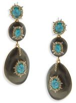 Alexis Bittar Opalescent Crystal & Turquoise Drop Earrings