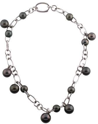 Mikimoto 18K Tahitian Pearl Collar Necklace