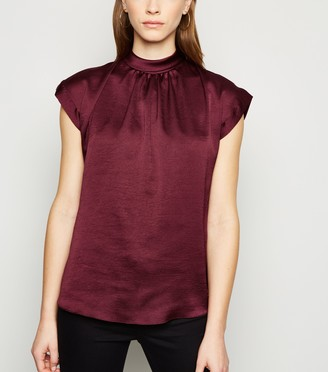 New Look Satin Roll Neck Blouse